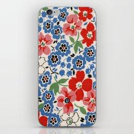 UPPERCASE feedsack floral iPhone Skin