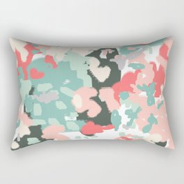 Ioro - painted abstract coral minimal mint teal bright southern charleston decor colors Rectangular Pillow