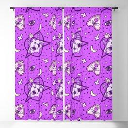 kawaii baphomet pattern lilac Blackout Curtain