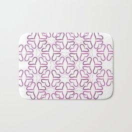 Heart Mandala Bath Mat