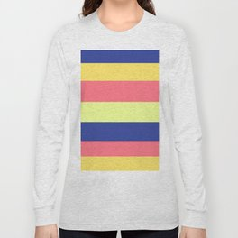 Modern rainbow neon colors color block stripes Long Sleeve T-shirt