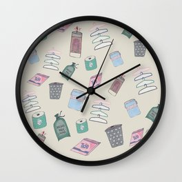 Lavanderia [coin Laundry ] Wall Clock