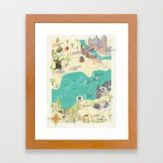 Princess Bride Discovery Map Framed Art Print