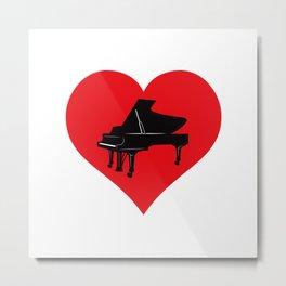 Love Piano Metal Print