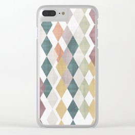 Rhombuses 2 Clear iPhone Case