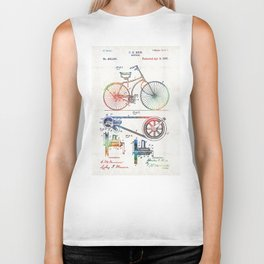 Colorful Bike Art - Vintage Patent - By Sharon Cummings Biker Tank