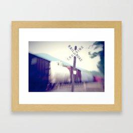 The Freight Line Framed Art Print