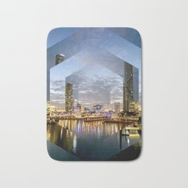 Brisbane City River - A gorgeous Geometric Print Bath Mat
