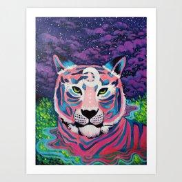Moon River Tiger Art Print
