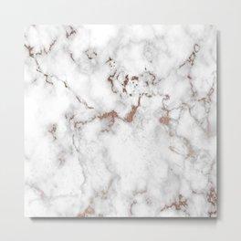 Eureka Rose Marble Metal Print