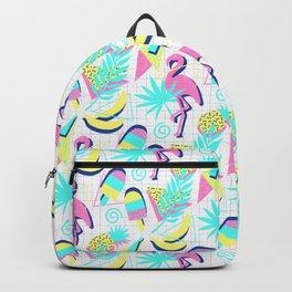 80s Flashback Tropical Fun Backpack