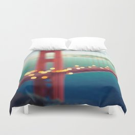 Meet Me In San Francisco Duvet Cover
