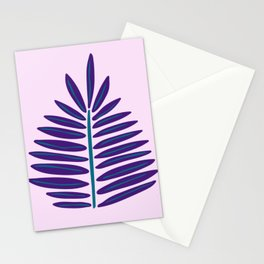 Purple Succulent Print Stationery Cards