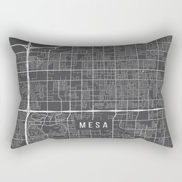 Mesa Map, Arizona USA - Charcoal Portrait Rectangular Pillow