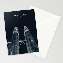 Kuala Lumpur, Malaysia Travel Artwork Stationery Cards