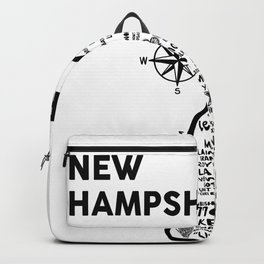 New Hampshire Map Backpack
