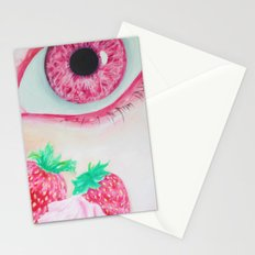 Strawberry Delight Stationery Cards