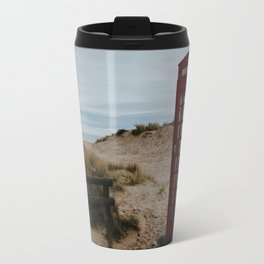 Cabin on the beach Travel Mug