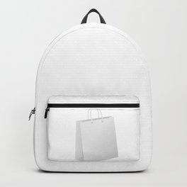 White shopping bag Backpack
