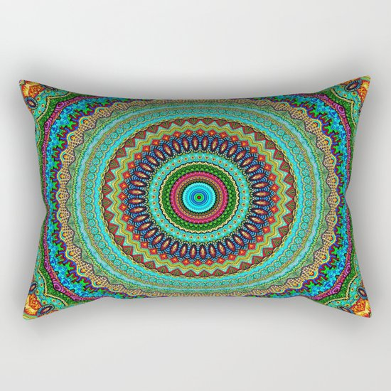 bohemian rhapsody  Mandala Rectangular Pillow