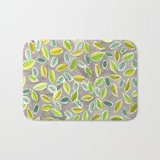 Leaf Watercolor Pattern by Robayre Bath Mat