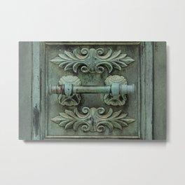 Copper door knob Metal Print