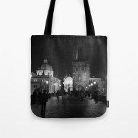 prague Tote Bags featuring Prague by Roberta Vilas Boas