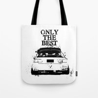 "honda Tote Bags featuring ONLY THE BEST ""HONDA"" by Consuelo Castaneda"