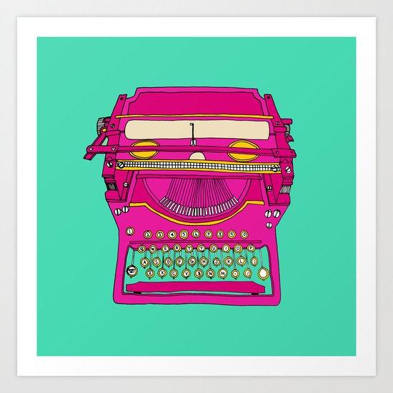 Typewriting // Retro Art Print