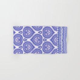 Decorative Blue Hand & Bath Towel