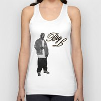2pac Tank Tops featuring Big L //Black&White by Gold Blood