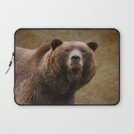 Brown Bear Stare Laptop Sleeve