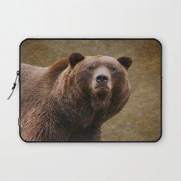 Brown Bear Stare Laptop Sleeve