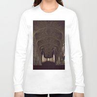 college Long Sleeve T-shirts featuring King's College Cambridge by David Hohmann