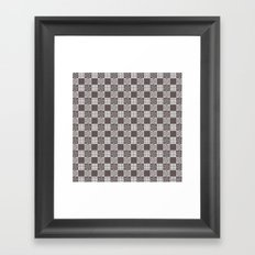 pattern (vintage swirl#1) Framed Art Print