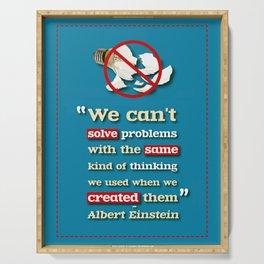Einstein on Problem Solving Serving Tray