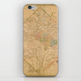 Civil War Washington D.C. Map iPhone Skin