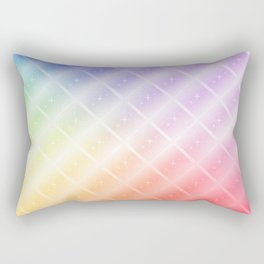Colorful Lines and Stars Rectangular Pillow