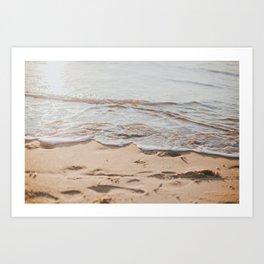 Salty Waves  Art Print