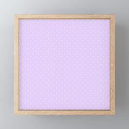 Mini Dark Lilac Love Hearts on Pale Lilac Pastel Framed Mini Art Print