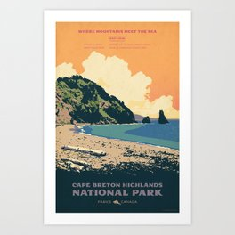 Cape Breton Highlands National Park Art Print