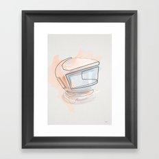 One Line 2001 space odyssey helmet Framed Art Print