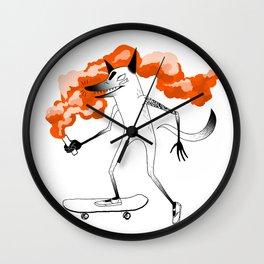 Fox Skateboarder2 Wall Clock