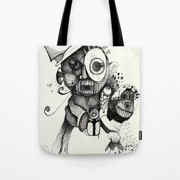 The Mad Hatter B&W Tote Bag