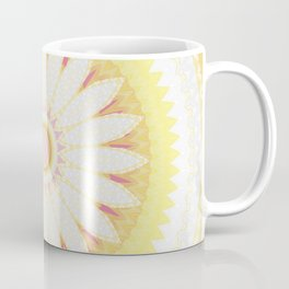 Sunshine Yellow Flower Mandala Abstract Coffee Mug