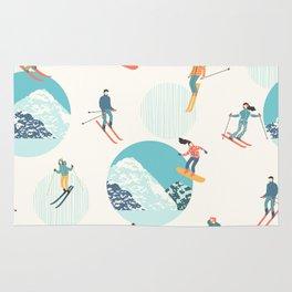 Ski pattern Rug