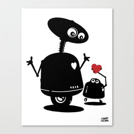 Robot Heart to Heart Canvas Print