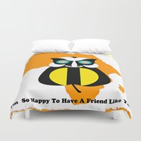 friendship Duvet Covers featuring Friendship by Saundra Myles