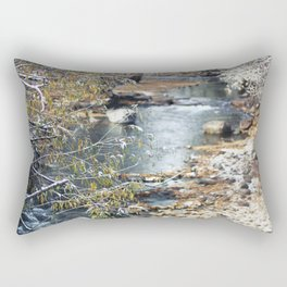 A Creek on a Snowy Day in Boulder, Colorado II Rectangular Pillow