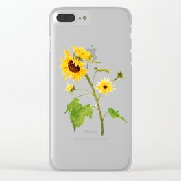 One sunflower watercolor arts Clear iPhone Case